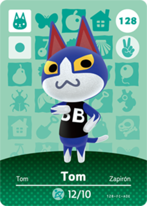 Tom amiibo card