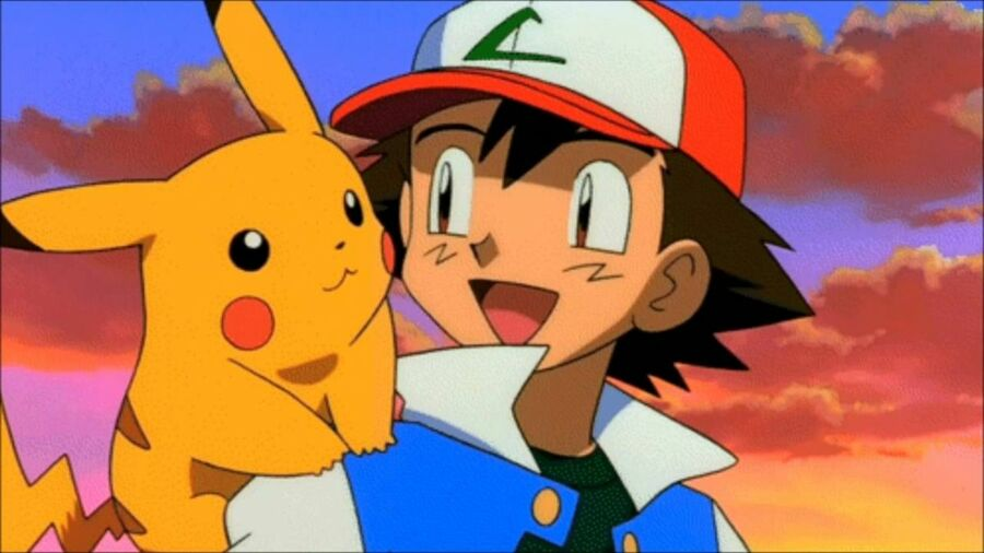The Pokémon anime's lead protagonist Ash with his Pikachu