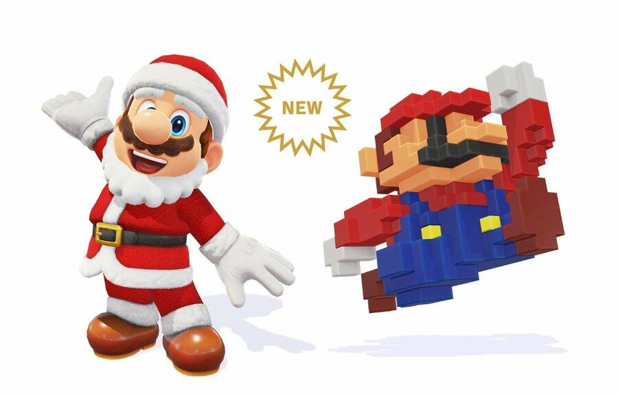 Santa And Pixel Mario IMG