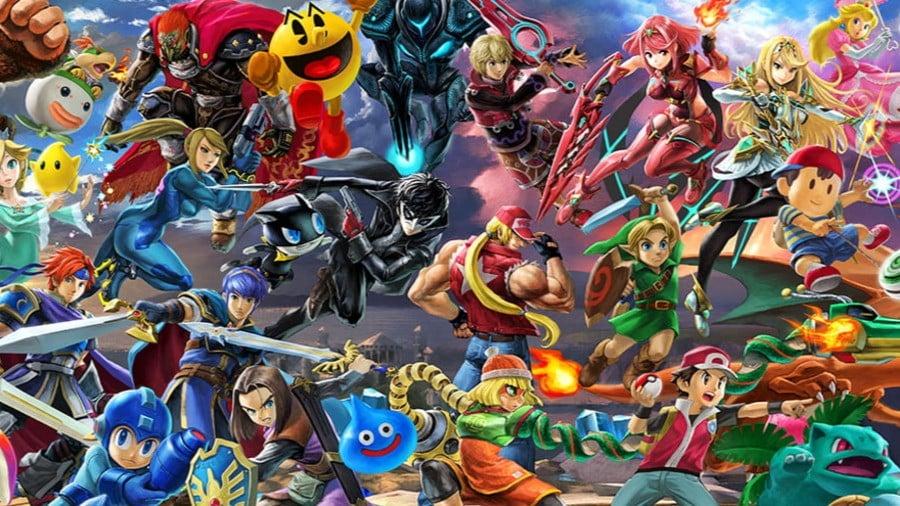 Super Smash Bros Mural