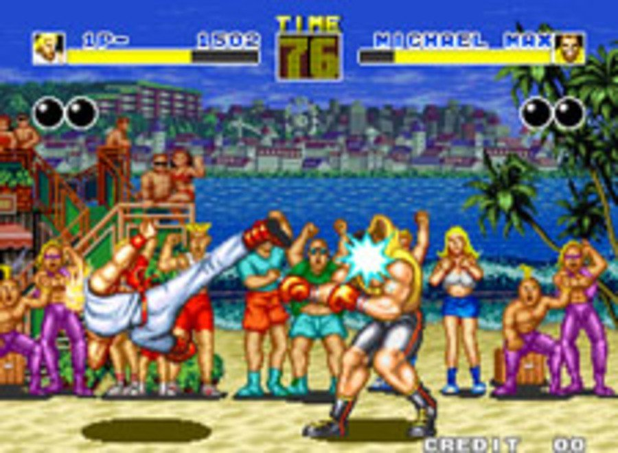 The first in the popular fighting series, Fatal Fury.