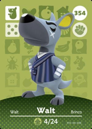 Walt amiibo card