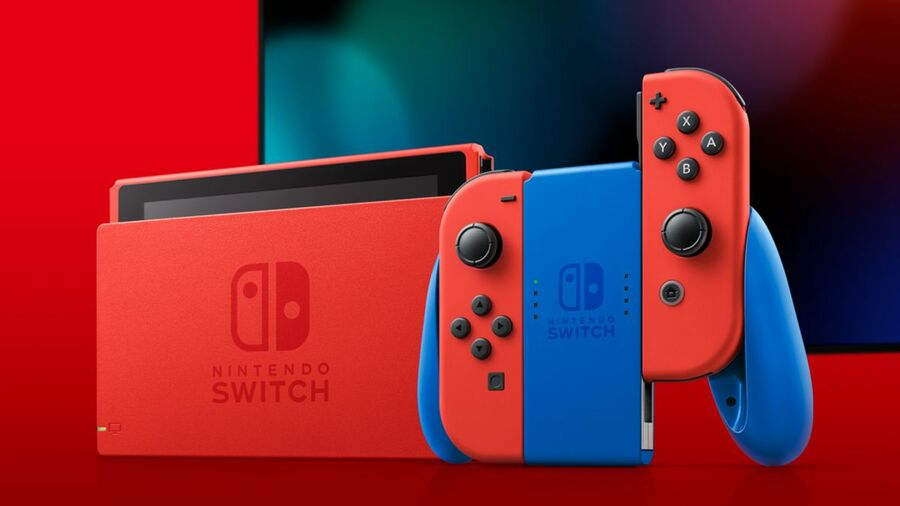 The Nintendo Switch – Mario Red & Blue Edition console that launched earlier this month.
