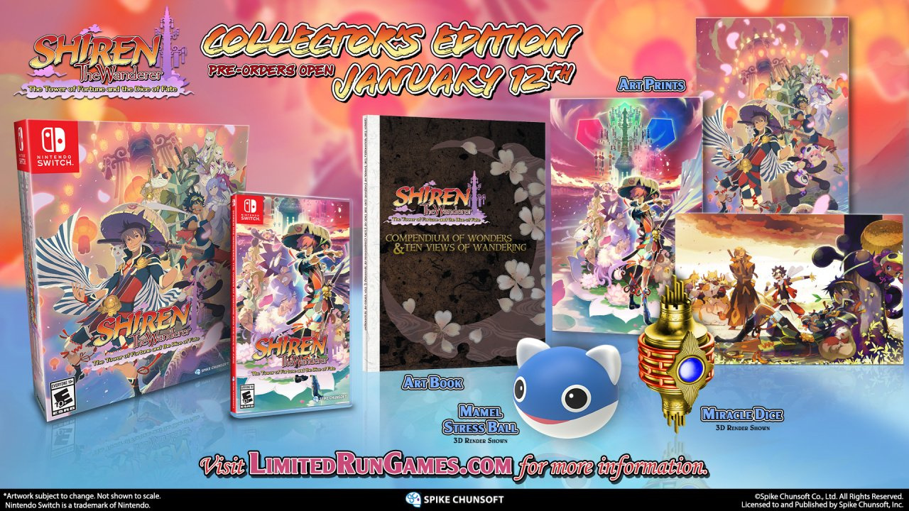 Shiren The Wanderer Gets Physical Release, Pre-Orders Start January 12th