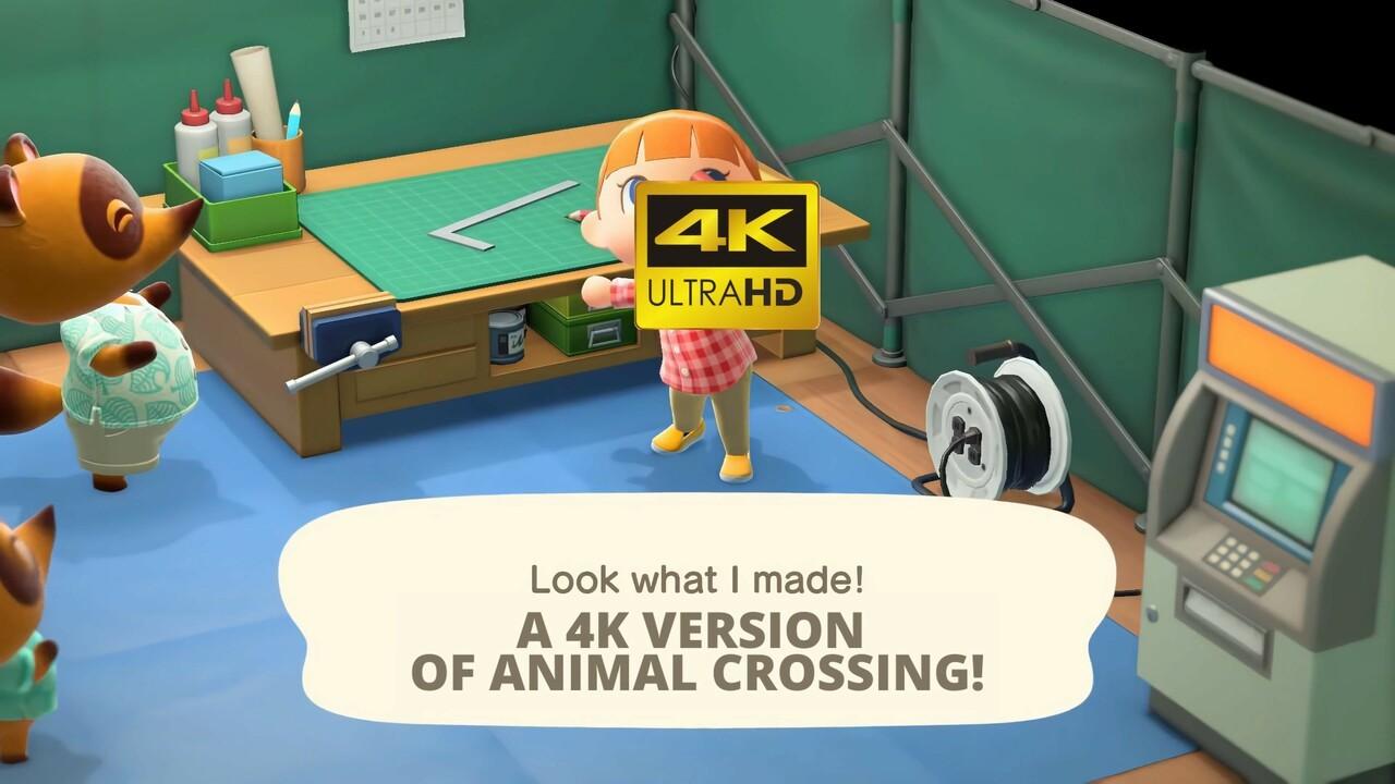 Video Here S How Animal Crossing New Horizons Looks Running At 4k 60fps Nintendo Life