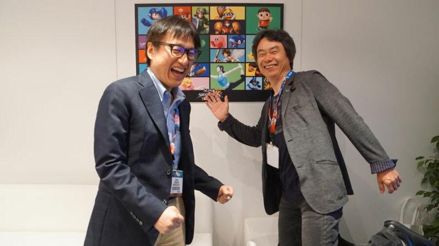 Shinya Takahashi and Shigeru Miyamoto