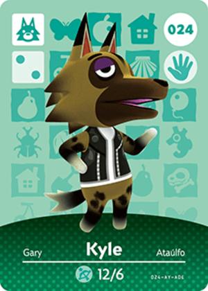 Kyle amiibo card