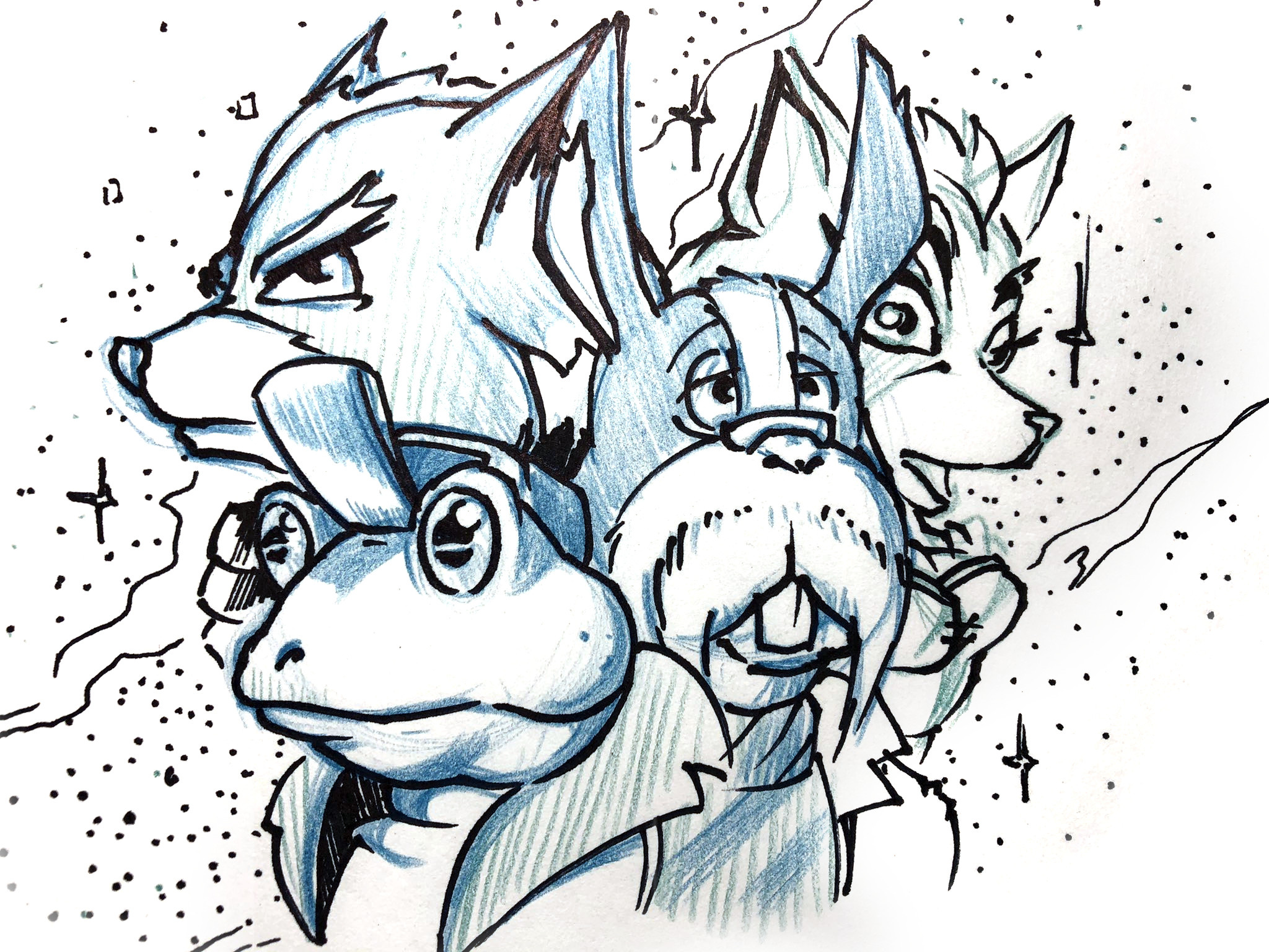 Kev's initial sketch for Star Fox Adventures