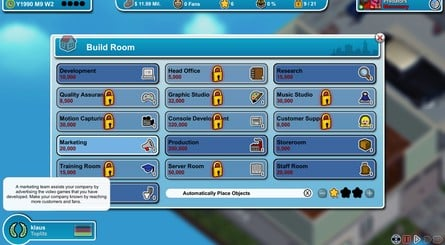 Mad Games Tycoon Rooms