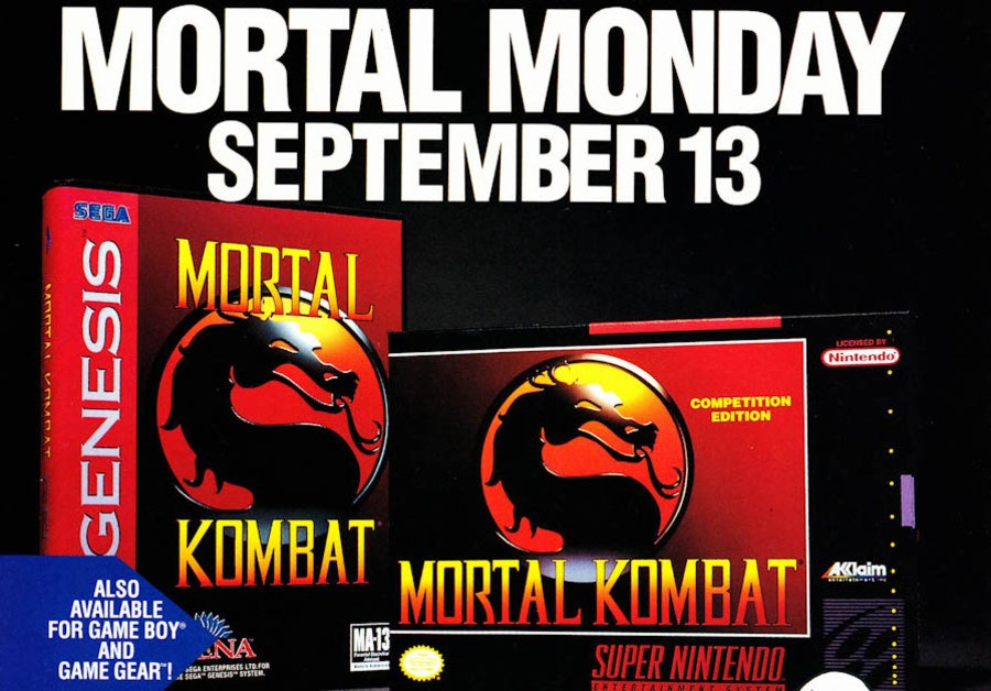 'Mortal Monday' was a massive event and retailers made sure people knew the game was coming to Sega and Nintendo consoles the world over