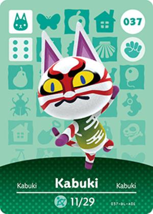 Kabuki amiibo card