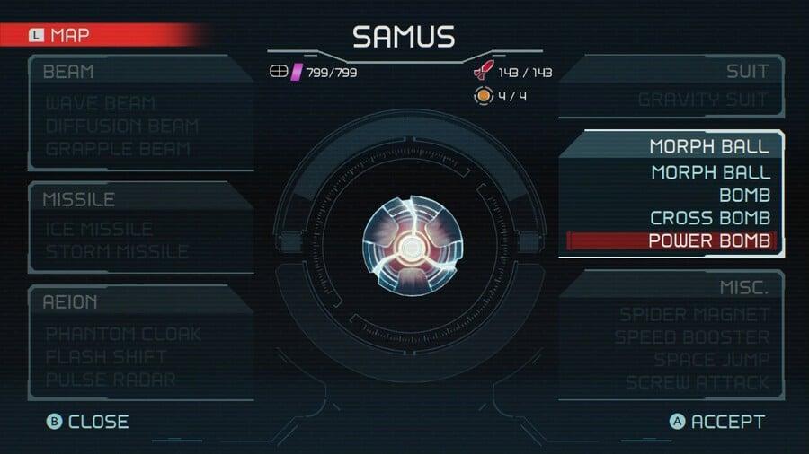 Metroid Dread Power Bomb