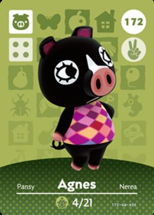 Agnes amiibo card