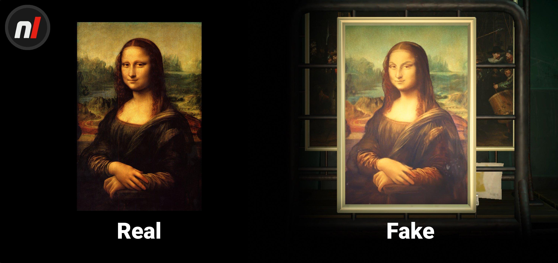 Animal Crossing: attenzione ai falsi: se le sopracciglia della Monna Lisa sono aggrottate, di certo non sarà il capolavoro di Leonardo da Vinci! (Fonte: NintendoLife)