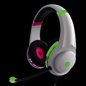 Stealth White earphone pink green