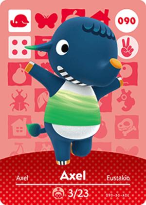 Axel amiibo card