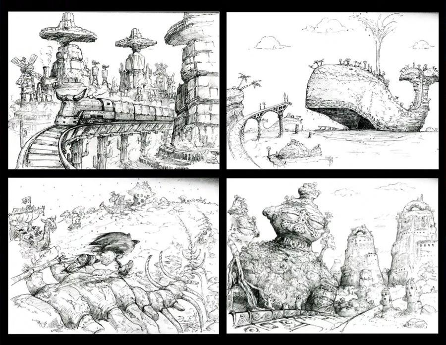 Sonic Heroes concept art