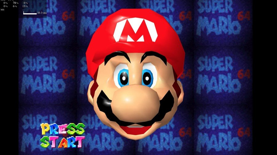 Look how clear and shiny Mario's face is!