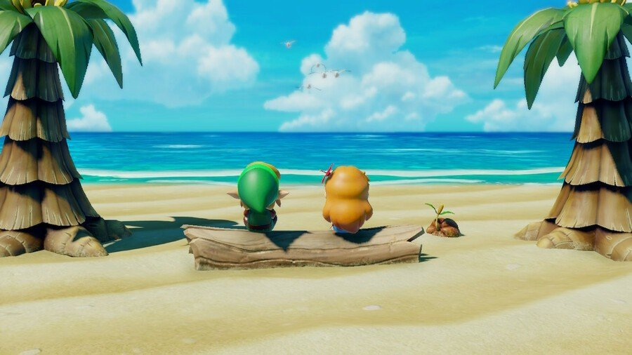 Link and Marin stare out over the ocean
