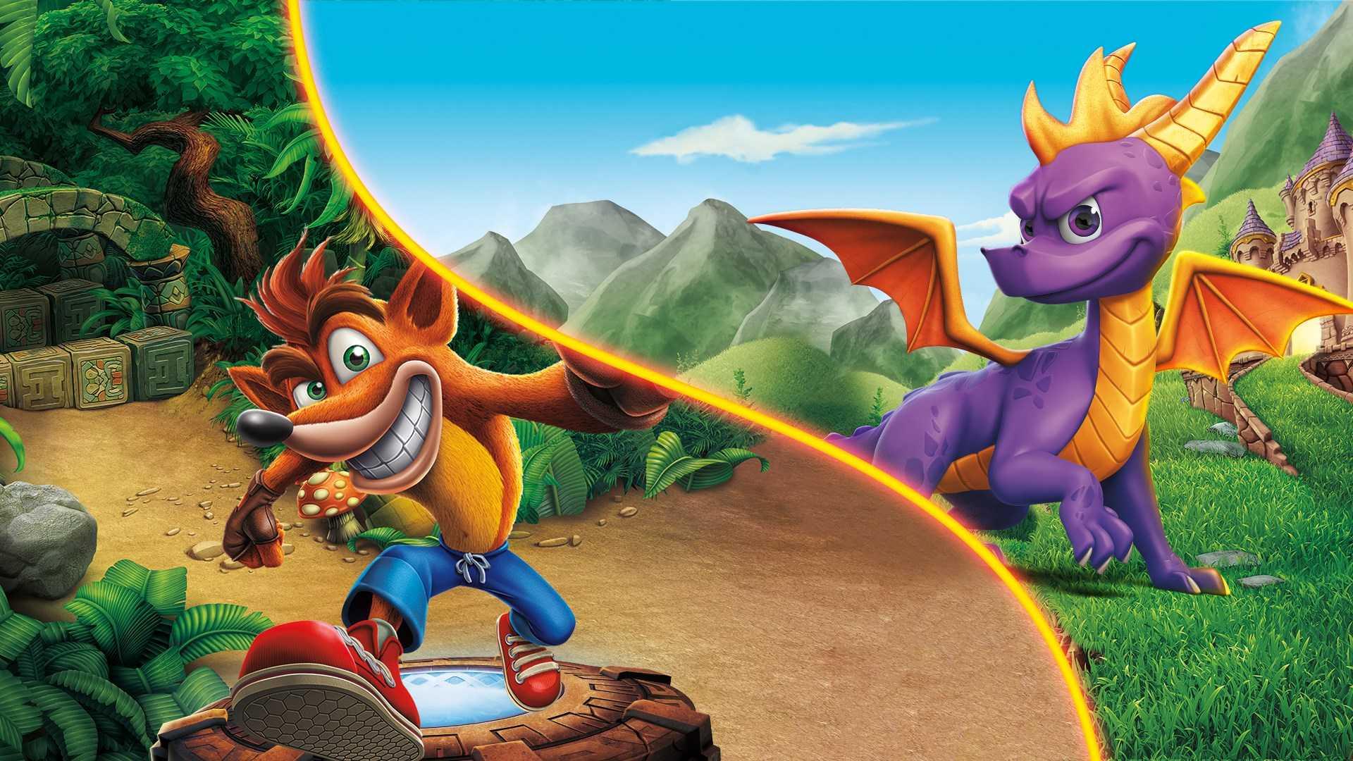 Σε έκπτωση τίτλοι με τον Spyro και τον Crash Bandicoot