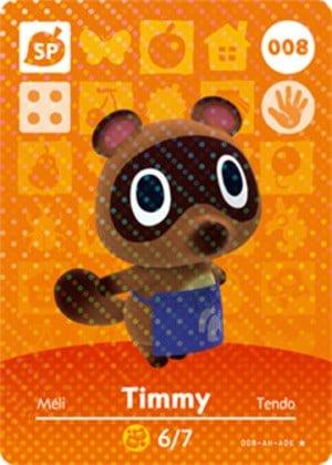 Timmy amiibo card