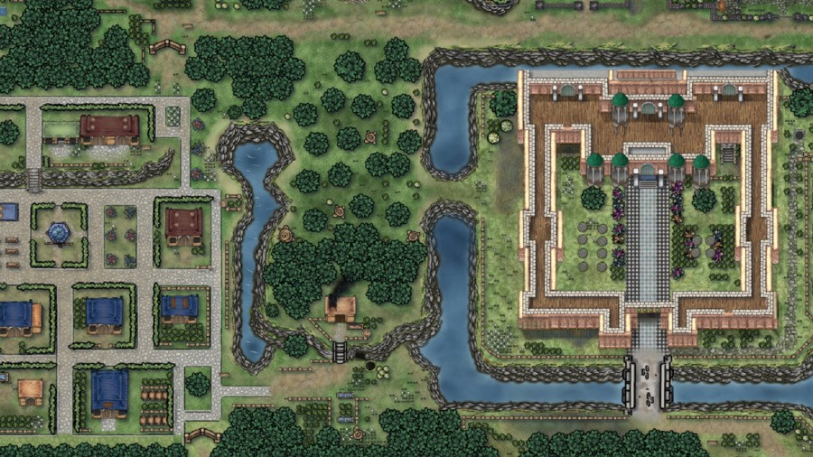 The Palace and Kakariko Village in A Link to the Past