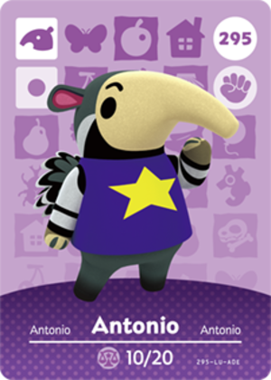 Antonio amiibo card