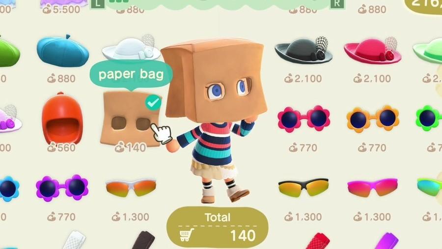 Animal Crossing New Horizons Paper Bag Look