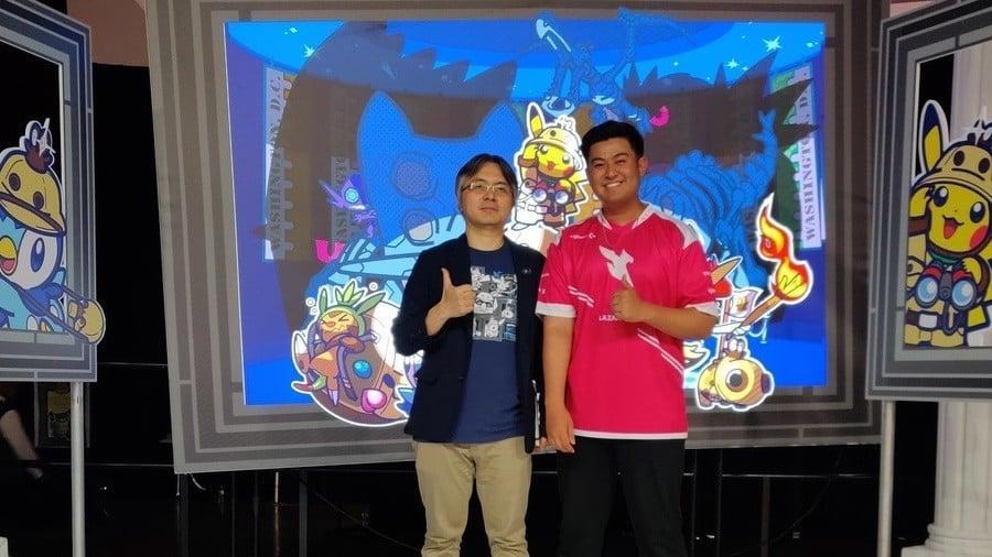 Masaaki Hoshino with pro player Allister