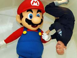 Mario & Buzz in the Zero-G games!