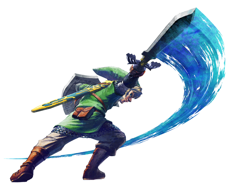 How Link usually looks in green. Official art from The Legend of Zelda: Skyward Sword