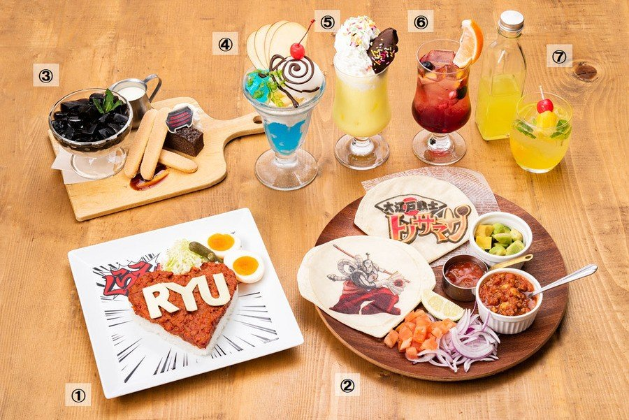 Ace Attorney In Capcom Cafe Food