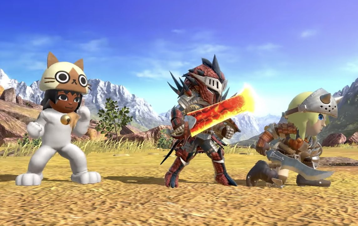 Smash Bros. Ultimate Adds Monster Hunter And Ghosts 'N Goblins Mii Fighter Costumes