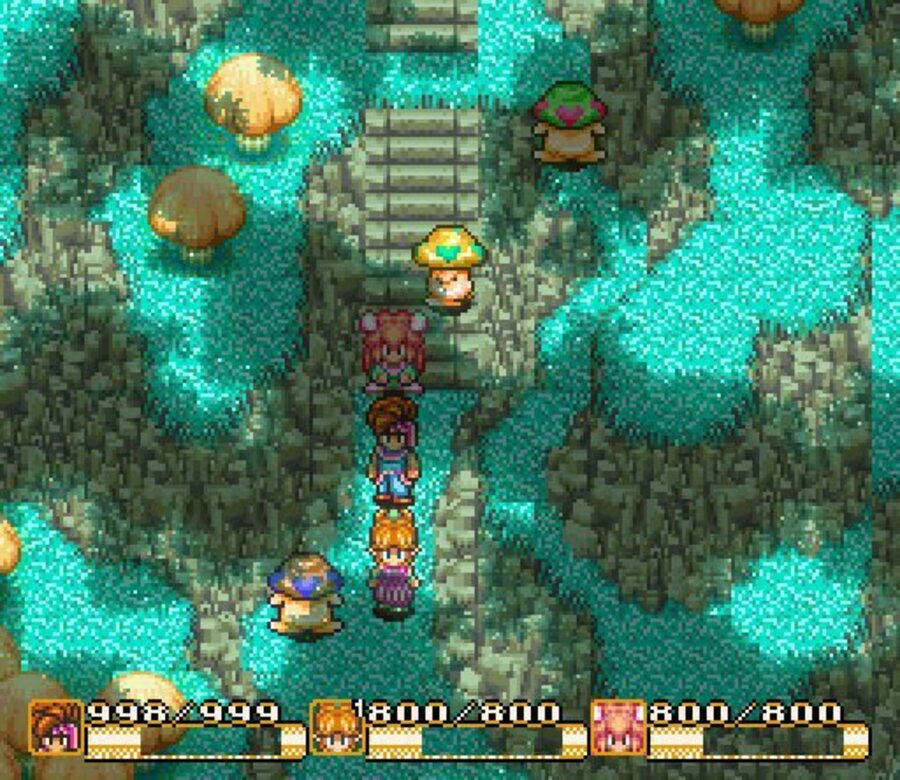 3-player RPG action in Secret of Mana
