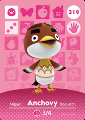 Anchovy amiibo card