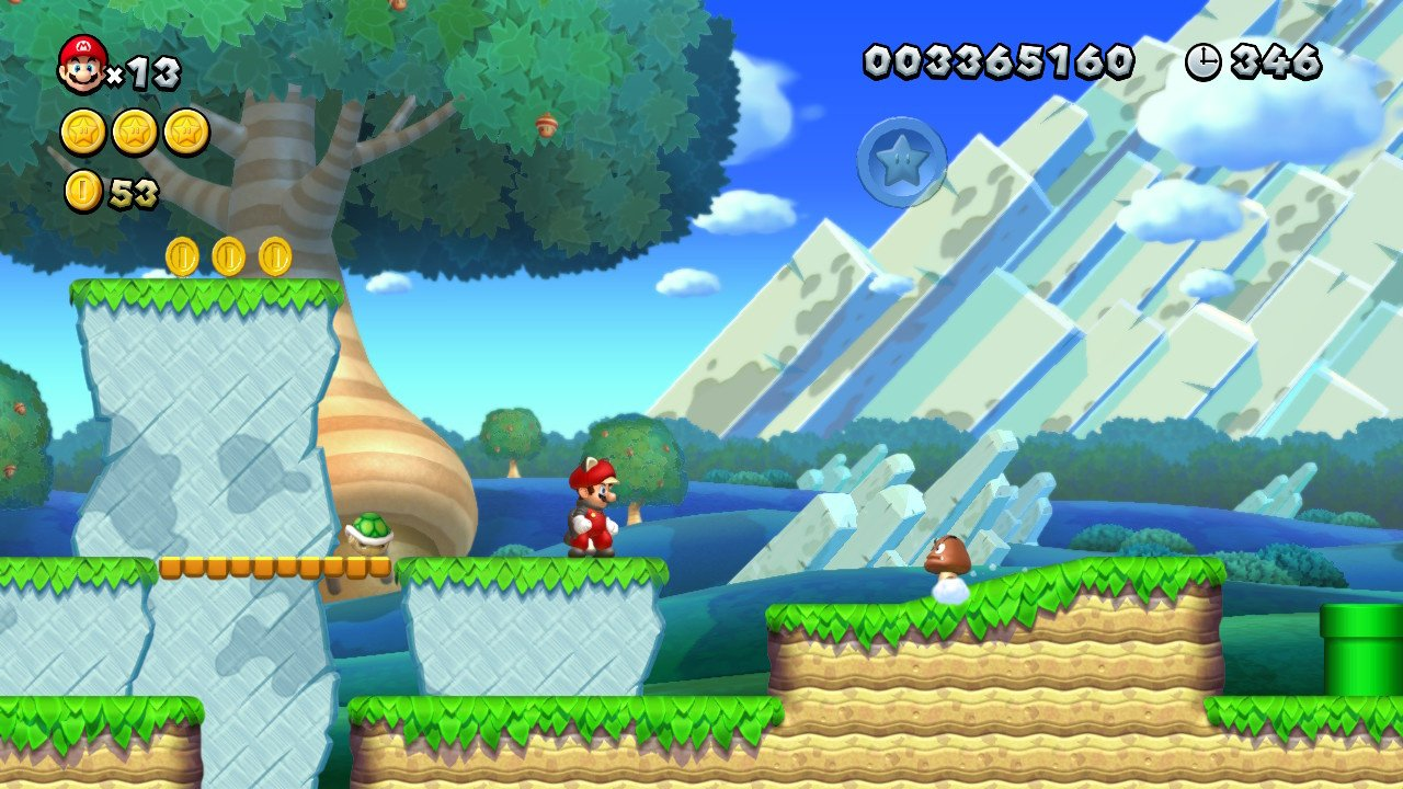 New Super Mario Bros. U 1-1 and we couldn't even recreate that tiny incline the goomba's trundling down, let alone a proper slope to slide on.