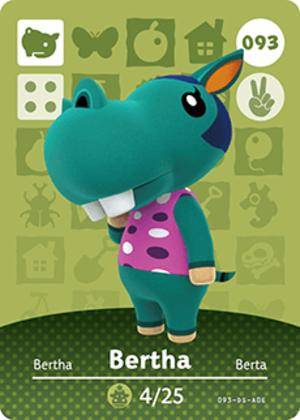 Bertha amiibo card