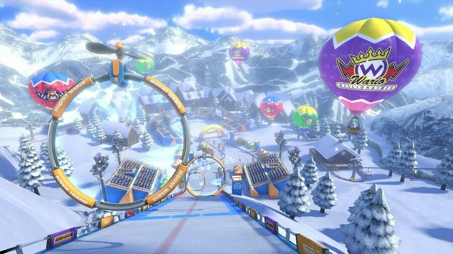 It always feels Christmassy at Mount Wario!