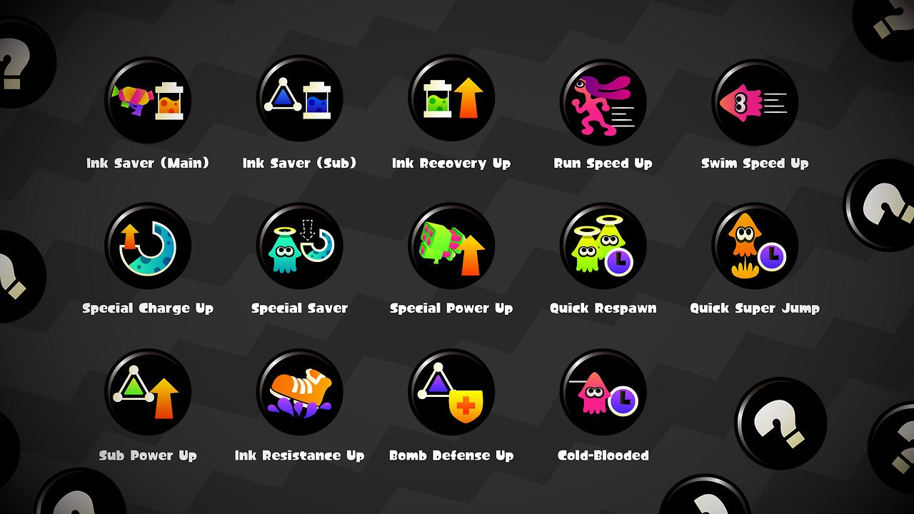 Splatoon 2 - Adding, Removing and Picking Abilities - Guide