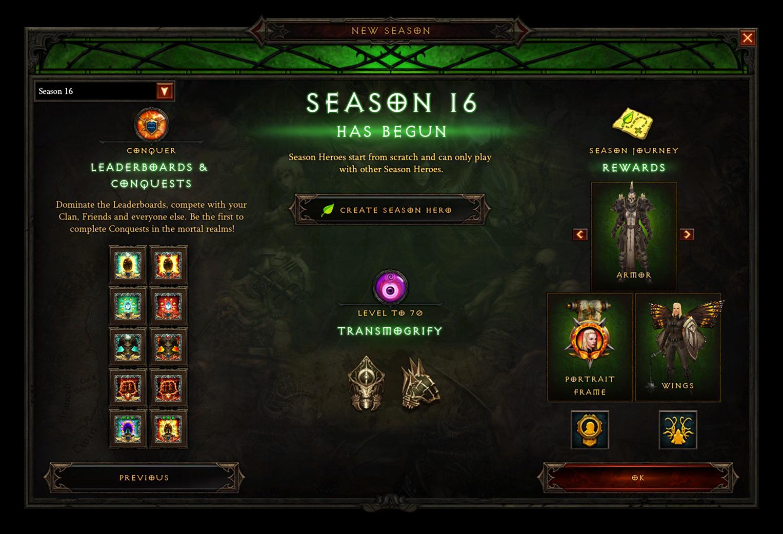 Diablo III Season 16 Rolls Out Today With Class Tweaks, Seasonal Buffs