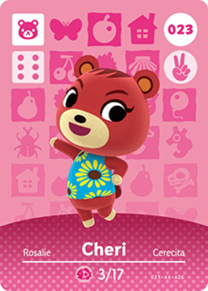 Cheri amiibo card