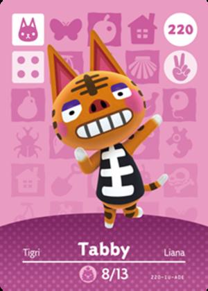 Tabby amiibo card