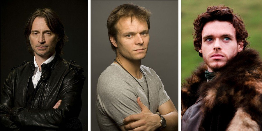 From left to right: Robert Carlyle, Alec Newman and Richard Madden