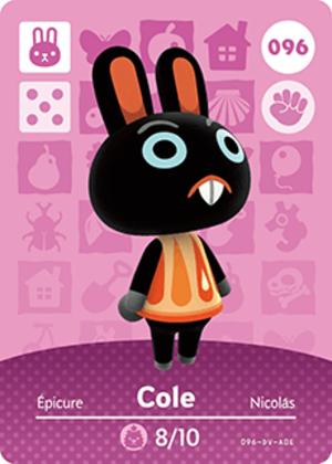 Cole amiibo card