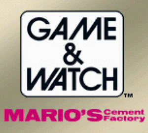 Game & Watch Mario's Cement Factory