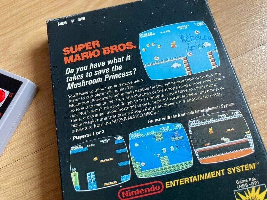 Super Mario Bros. PAL Box reverse
