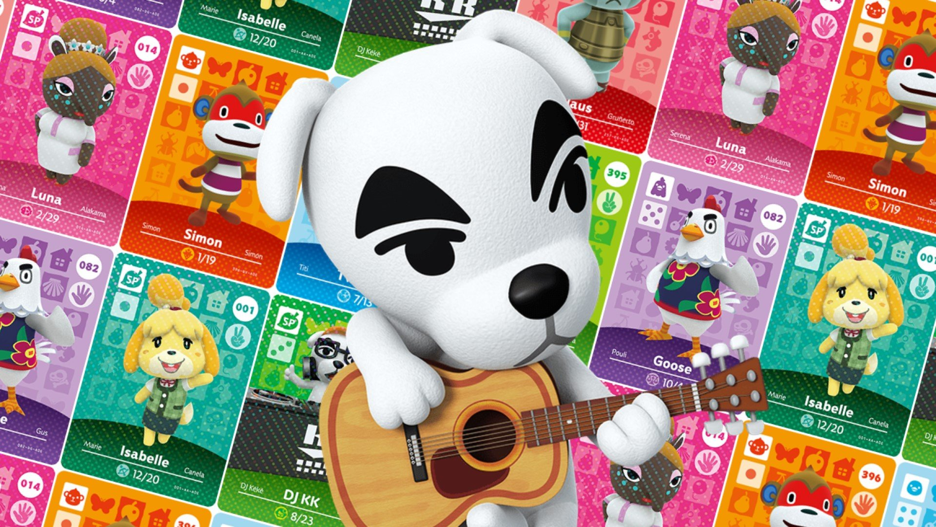 animal crossing characters dog with guitar