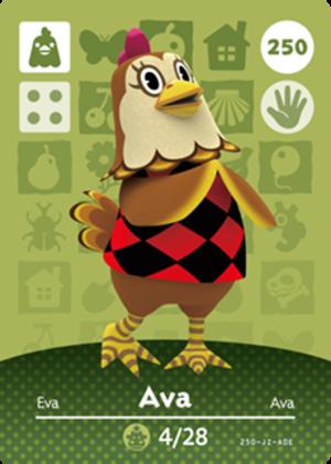 Ava amiibo card