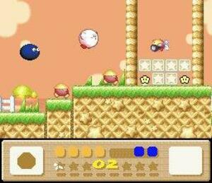 The unique visual style of Kirby's Dream Land 3