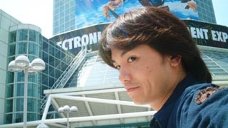 A slightly blurry Sakurai selfie, before selfies were cool.